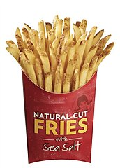Wendy's french fries with sea salt