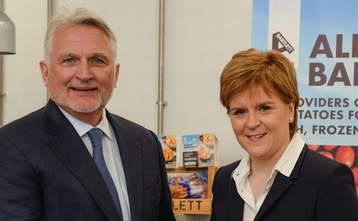 Scotland's first minister present at opening Albert Bartlett chilled potato plant