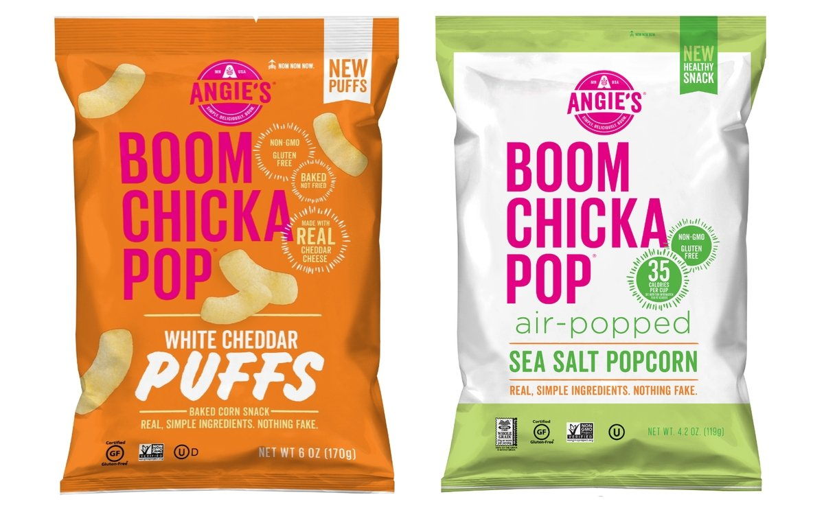 Angie's BOOMCHICKAPOP Adds White Cheddar Puffs and Sea Salt Air-Popped Popcorn to its Growing Snack Portfolio