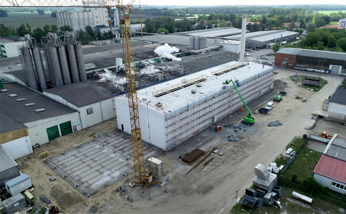 Emsland Group installs four drum dryers for potato flakes at their Hagenow plant