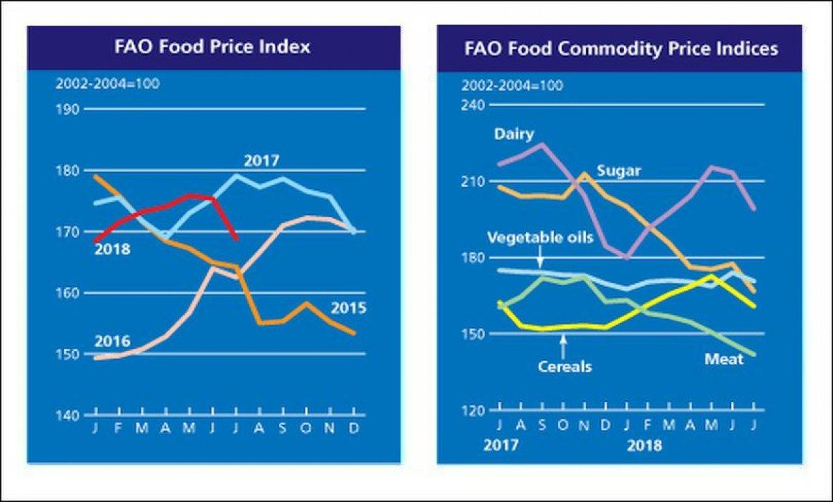 FAO Food Price index July falls sharply