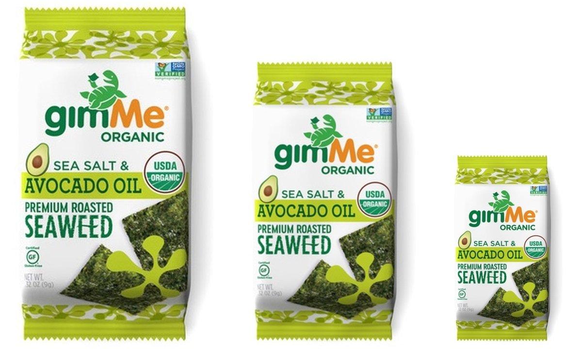GimMe Snacks Debuts New Sea Salt & Avocado Oil Roasted Seaweed Snack Flavor