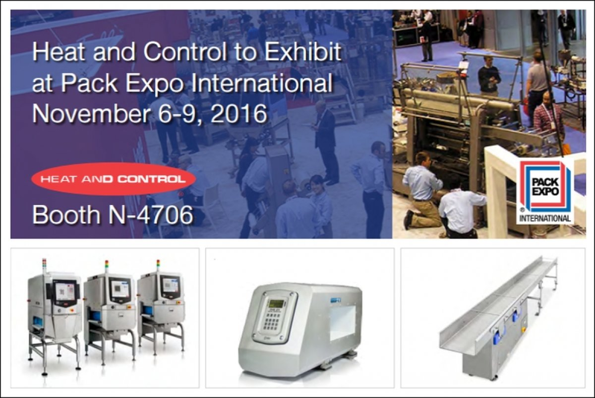 At Pack Expo Heat and Control shows the latest equipment of FastBack, Spray Dynamics, CEIA and Ishida