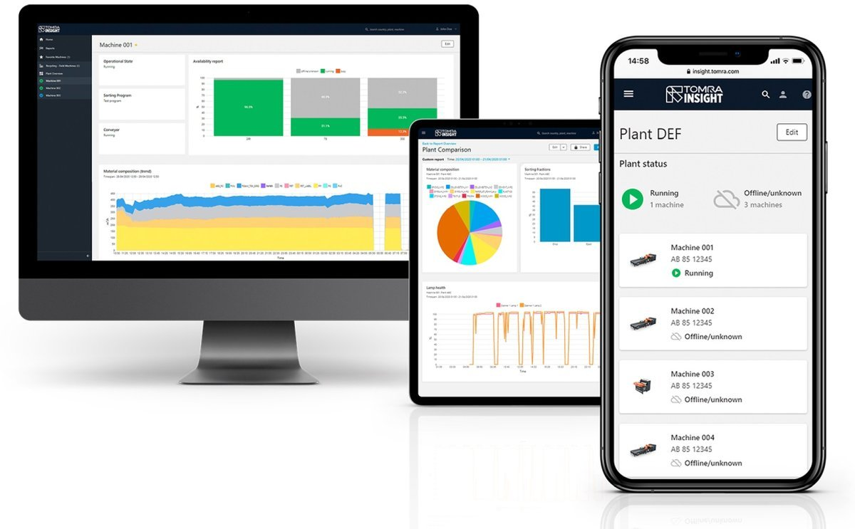 Tomra Insight, the Powerful Industry 4.0 Data Platform, is Now available for the Food Industry