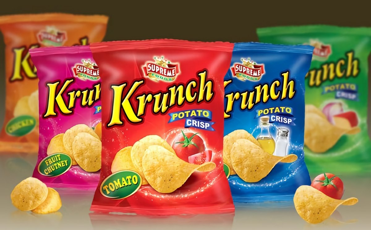 Krunch potato chips has to change logo and packaging after complaint by Simba