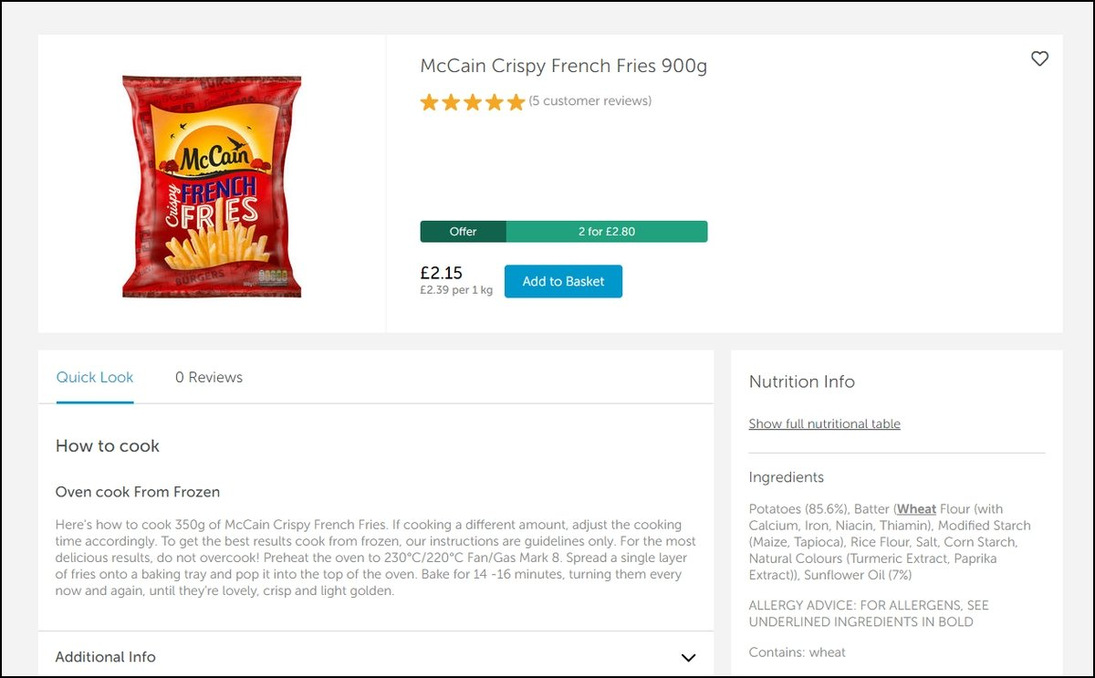 McCain Foods GB partners with e.fundamentals to help drive online sales