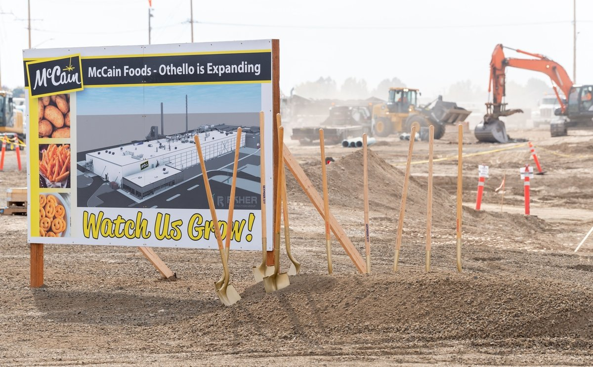 Construction Potato Processing Plant Expansion McCain Foods - Othello to resume early October