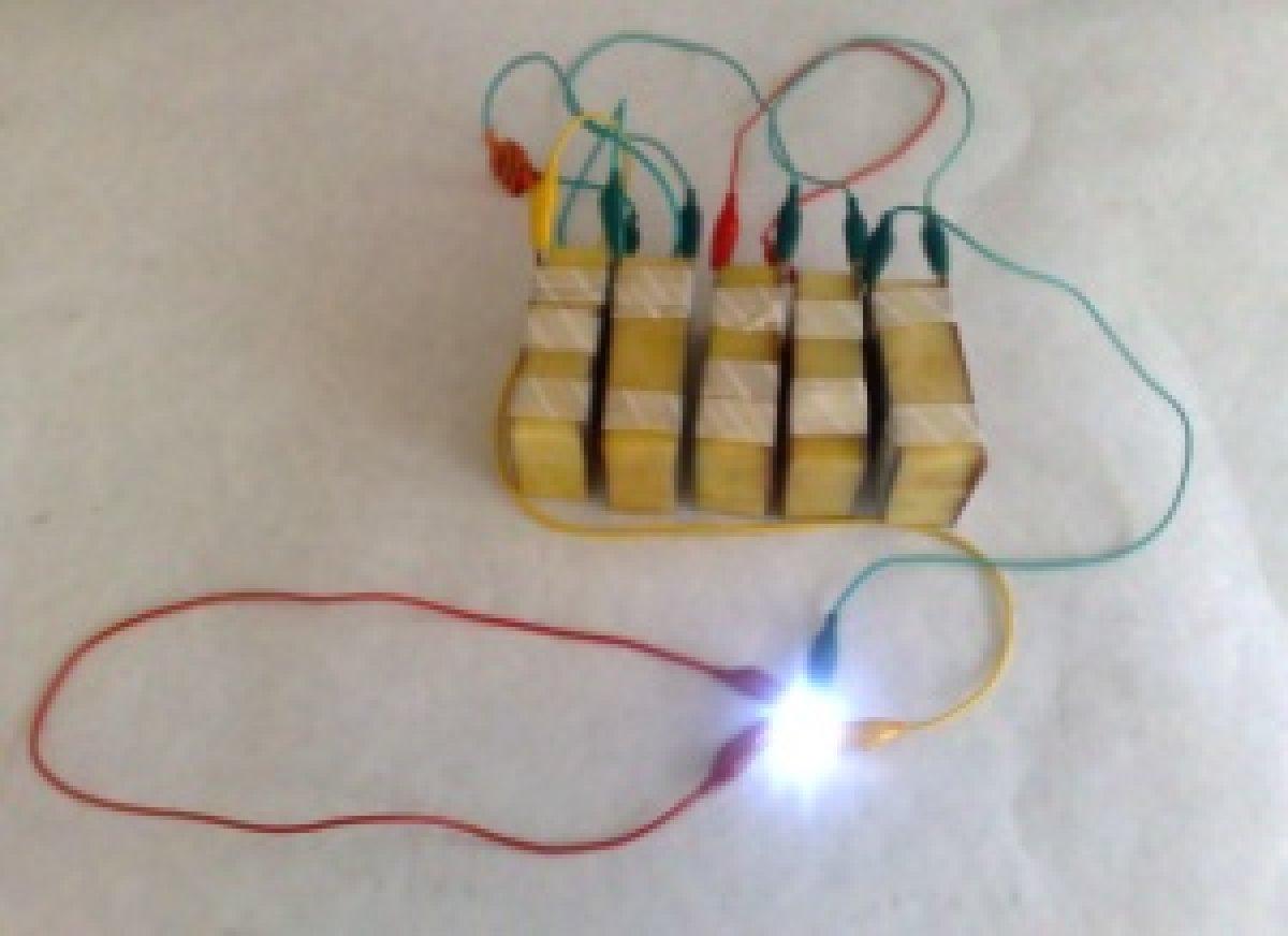 Bateria hecha con papas cocidas