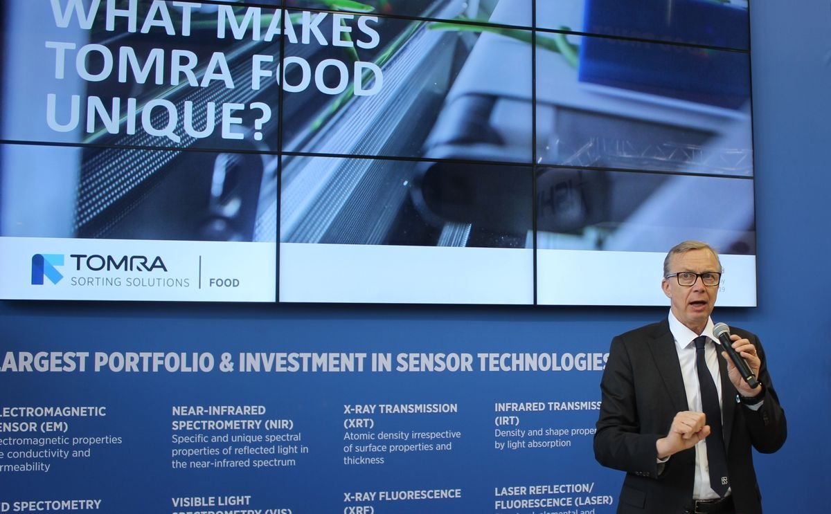 TOMRA CEO discusses TOMRA Food's capabilities and future aspirations at Fruit Logistica