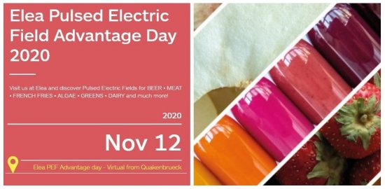 Elea Pulsed Electric Field (PEF) Advantage Day 2020