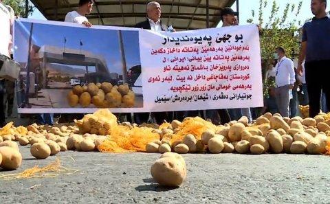 Kurdistan's Potato Farmers Protest Cheap, Banned Imports