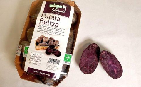 Llega al mercado la patata Beltza, obtenida por Neiker
